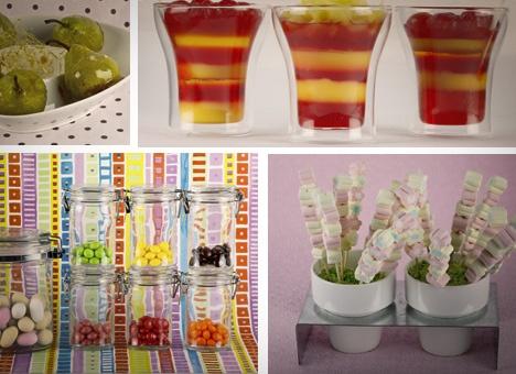 Encanta a los niños con gelatinas de colores, frutas caramelizadas y masmelos Éxito seguro en cualquier fiesta infantil