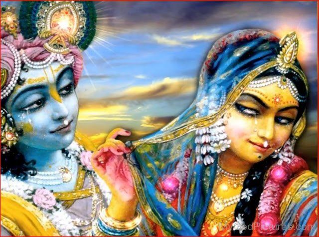 Goddess Radha And Krishna Photo