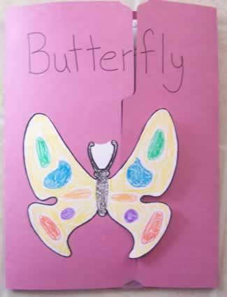 Butterfly lap book (front view).