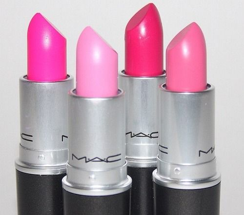 MAC pink lipsticks need all this I am obsessed with pink lipsticks ��