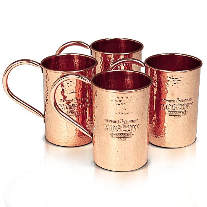 The Original Moscow Copper Co. Hammered 100% Pure Copper Mule Mugs (4-Pack) - 2