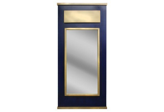 Remy Wall Mirror, Navy/Gold