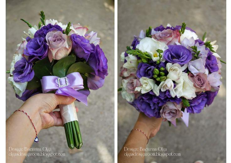 Baiciurina Olga's Design Room: Violet wedding bouquet-Фиолетово-сиреневый букет невесты!