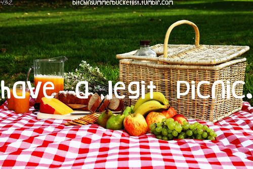 This summer...have a legit picnic--red checkered blanket and all! #summerbucketlist #summerfun