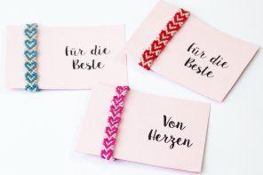 Freundschaftsbänder knüpfen mit Herzen – Einfache DIY Anleitung
