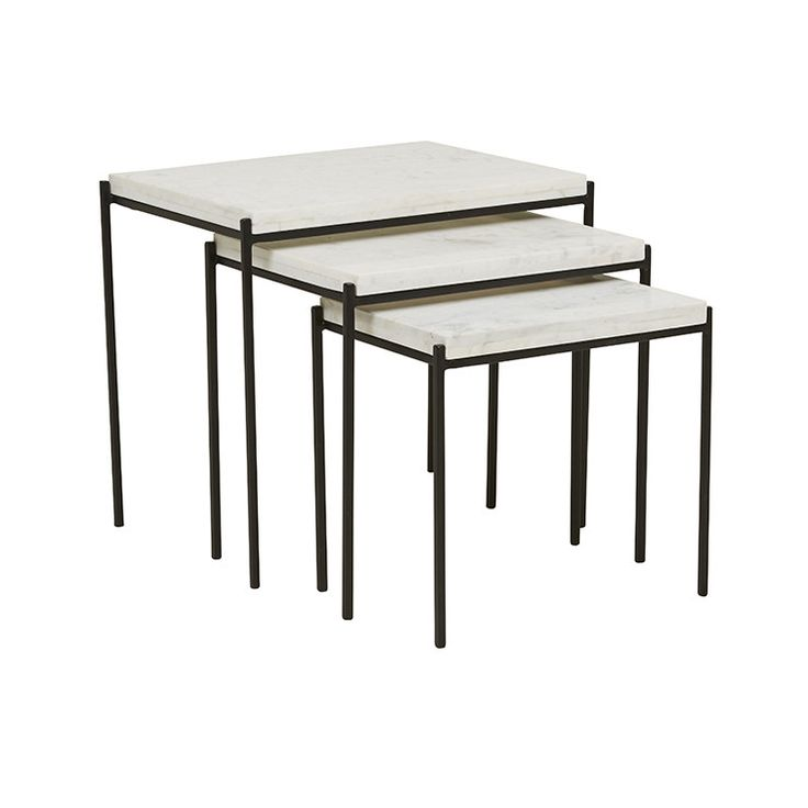 GlobeWest Vionnet Nest of 3 Side Tables