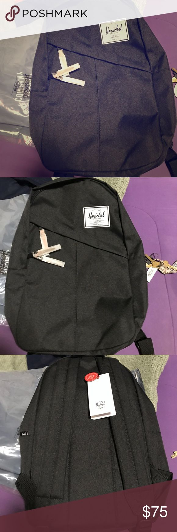 Black Herschel back pack Brand New, all black Herschel backpack. Can hold 15' laptop. Tags still attached never used Herschel Supply Company Bags Backpacks