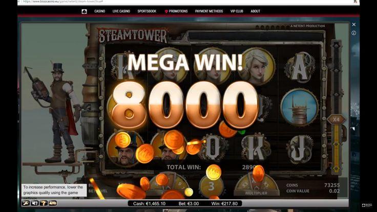 SteamTower online slot by Netent. Mega big win. online casino. casino slot. big win casino. netent big win. bosscasino. online casino. casino. best casino. bosscasino