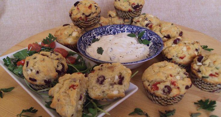 Αλμυρά μεσσογειακά muffins