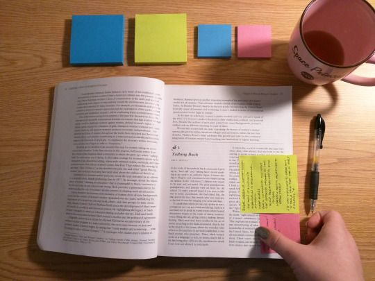 How to Take Notes: from a Textbook || staticandstationery.tumblr.com