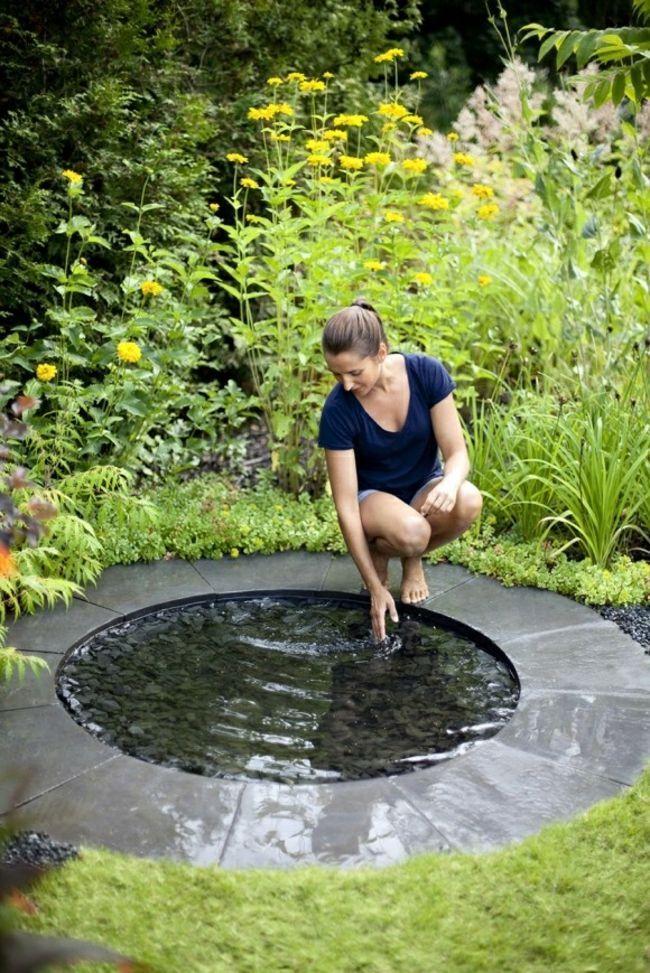 Klein Garten Teich Spiegel Form Selber Machen Wasserbecken Garten Gartenbrunnen Brunnen Garten
