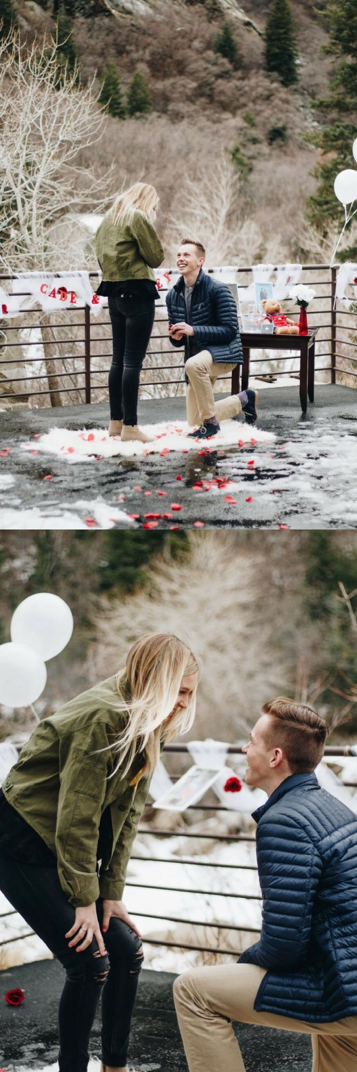 He made the most beautiful and sentimental setup with photos from their relationship, then he asked her to marry him!