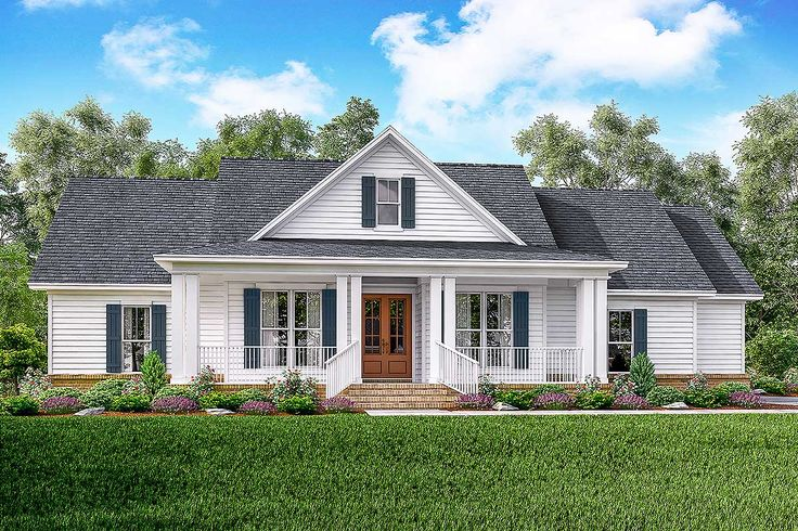 Best 10 farmhouse floor plans ideas on pinterest for Simple house plans with porches
