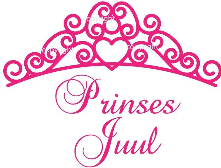 Babykamer of kinderkamer Muursticker Tiara Prinses