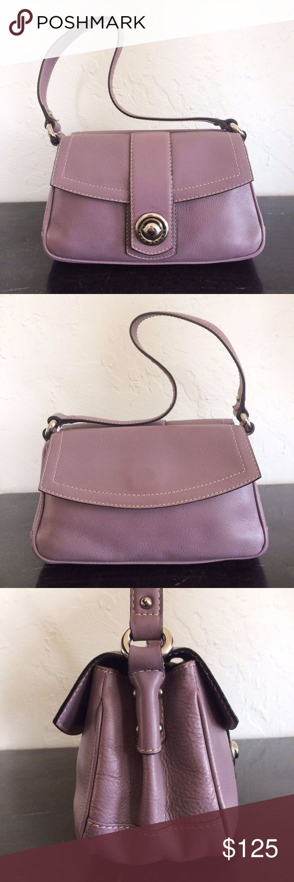 """Marc Jacobs Purple Olivia Suede Lined This is a classic suede lined style from the early Marc Jacobs days. About 10""""W x 6""""H x 3 1/2""""D with a 7 1/2"""" strap drop. The back compartment has a magnetic flap closure, while the front compartment has a push lock closure and one zip pocket. Gently used with minor lining wear. No major flaws. The official color is Washed Raisin and the hardware is silver. Price firm. Marc Jacobs Bags Shoulder Bags"""