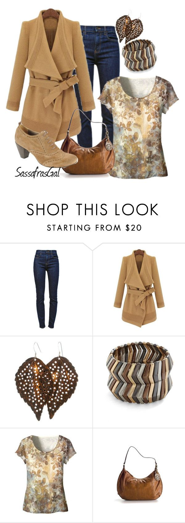"""Camel Coat"" by sassafrasgal ❤ liked on Polyvore featuring Proenza Schouler, Mystique, Coldwater Creek, Tignanello and LOOKY"