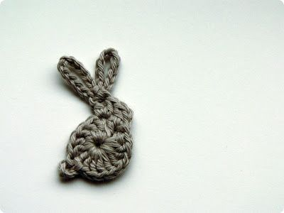 Mini crocheted rabbit. Tutorial in Polish but reckon the photos are enough to work it out.