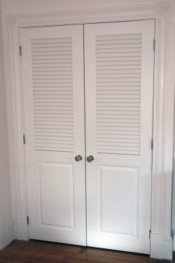 louvered double closet doors | Can I Use 2 Different Styles of Closet Doors Together?