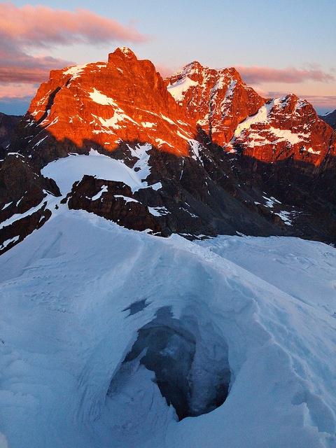 Sunrise-Pequeno Alpamayo-Climb-Bolivia