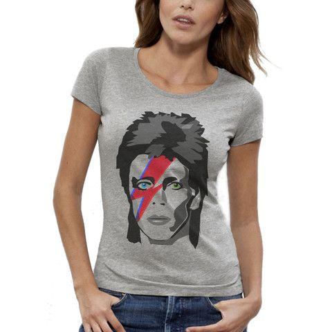 T-shirt Imprimé Bio Gris / Grey Organic Graphic Tee-shirt - David Bowie Major Tom - ArteCita ECO Fashion - #ArteCita #ECOFashion #Bio #GreenIsTheNewBlack