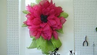 how to make deco mesh flowers - YouTube