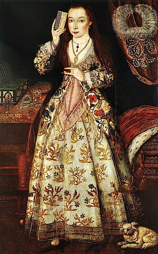 ca. 1590 Elizabeth Vernon, Countess of Southampton