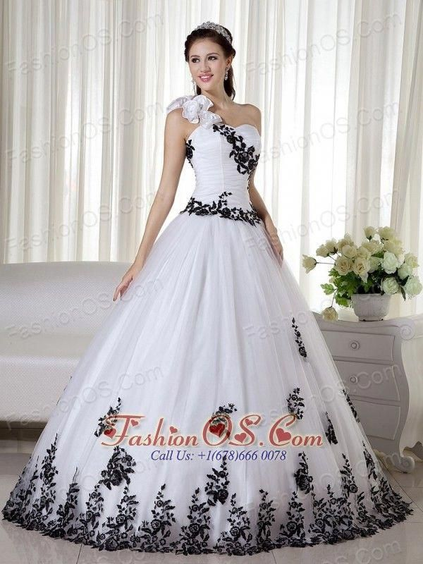 ed62f1c6938 White Ball Gown One Shoulder Floor-length Taffeta and Organza Embroidery  Quinceanera Dress  simplequinceaneradresses