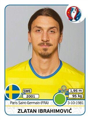 567 Zlatan Ibrahimovic - Suecia - EURO 2016 - PANINI