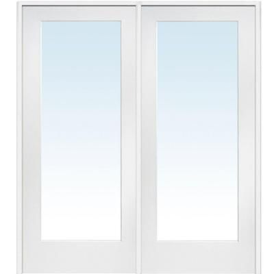 $563 - Milliken Millwork 60 in. x 80 in. Classic Clear Glass 1-Lite Composite Double Prehung Interior French Door-Z009299R - The Home Depot