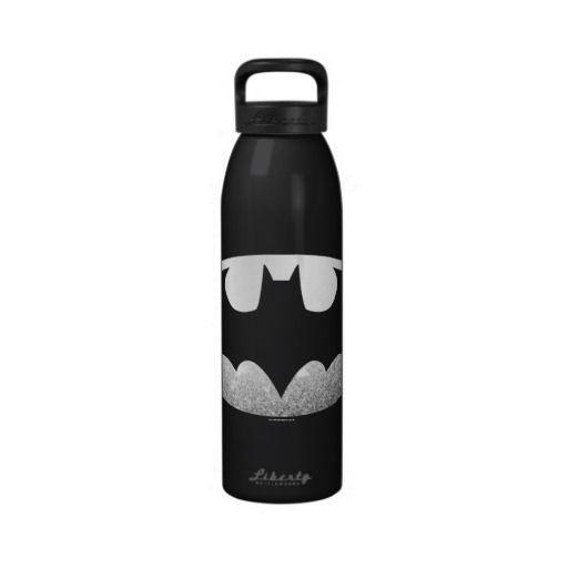 Batman Grainy Logo Reusable Water Bottles