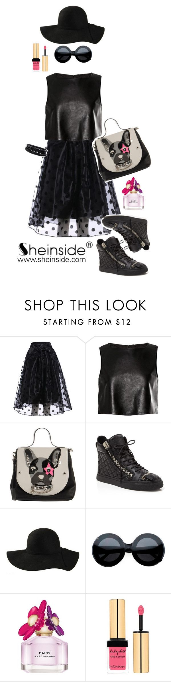 """City Chic Style with SheInside"" by mara-petcana ❤ liked on Polyvore featuring TIBI, TUA by Braccialini, Giuseppe Zanotti, Marc Jacobs, Yves Saint Laurent, Spring Street and Sheinside"