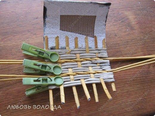 Master class z wkładkami Weave bochonochek papieru Rury zdjęcie 10