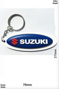 Keychains Porte-clés – Suzuki – blue – Motocross – Motorcycle – Motorbike – Car – Scooter – Key Ring – Kautschuk Rrubber Keyring – perfect…