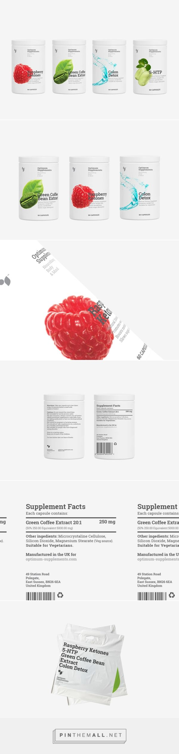 Optimum Supplements™ on Behance by Aleksandar Cvetković, Inc.® Nis, Serbia curated by Packaging Diva PD. Appealing supplement packaging.