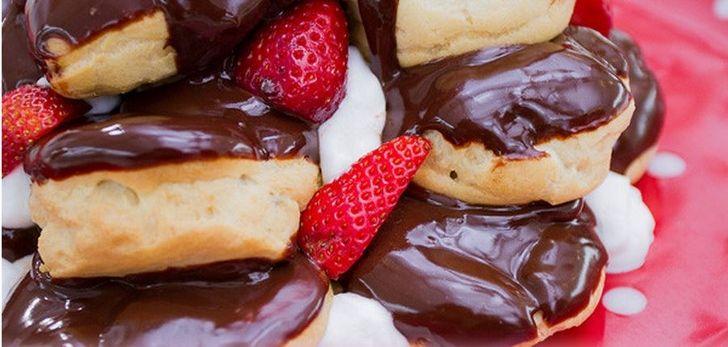 profitterol con cioccolata e fragole - Αναζήτηση Google
