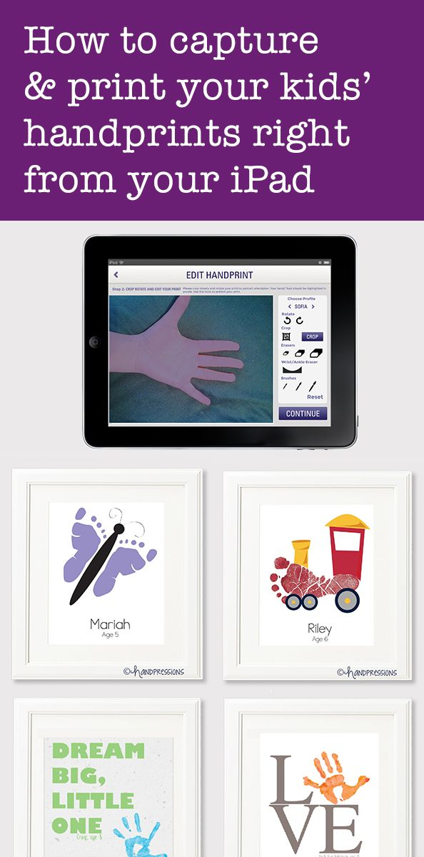 A new app makes it simple to digitally capture those tiny fingers and toes, with zero mess. This would be amazing if I ever get an iPad!