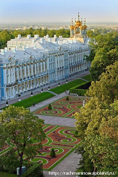 Tsarskoe Selo (Pushkin) - royal palace and park near St.Petersburg, Russia