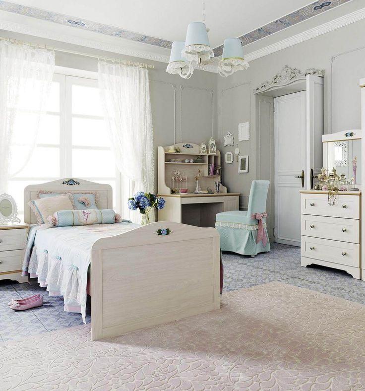 Kinderzimmer Fiora im Landhaus Stil mit Naturholz Elementen! Jetzt Cilek Möbel Online bestellen und finanzieren!