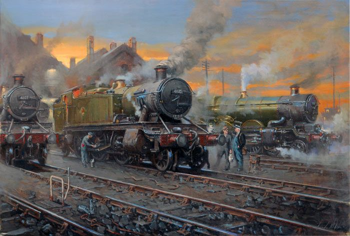Fine Art Prints of Railway Scenes & Train Portraits - Prairies by David Noble