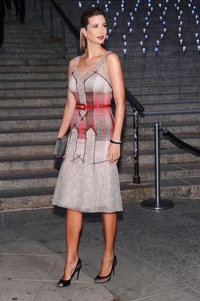 Ivanka Trump Cocktail Dress - The always elegant Ivanka Trump wore this artistic…