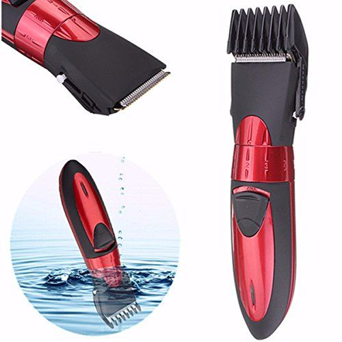 Hair Trimmer LUCKYFINE Washable Men Shaver Rechargeable Mens Red Beard Hair Clipper -- You can find more details by visiting the image link.Note:It is affiliate link to Amazon.