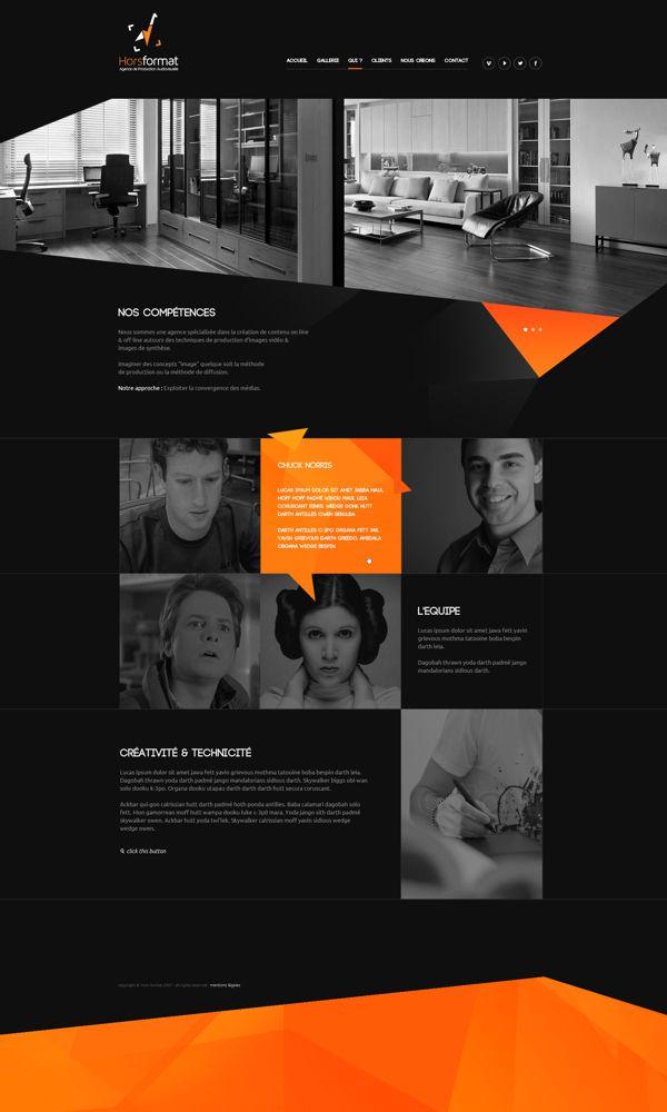 Web | HF Concept by Thomas Le Corre, via Behance