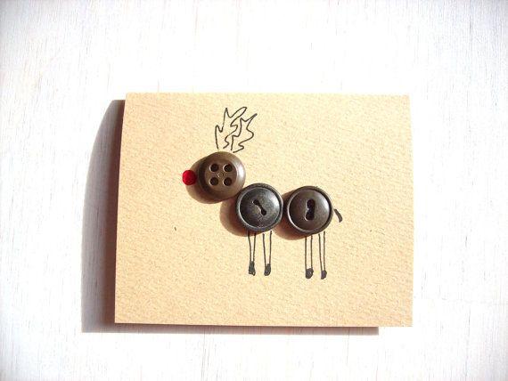 Button Reindeer, via Etsy.
