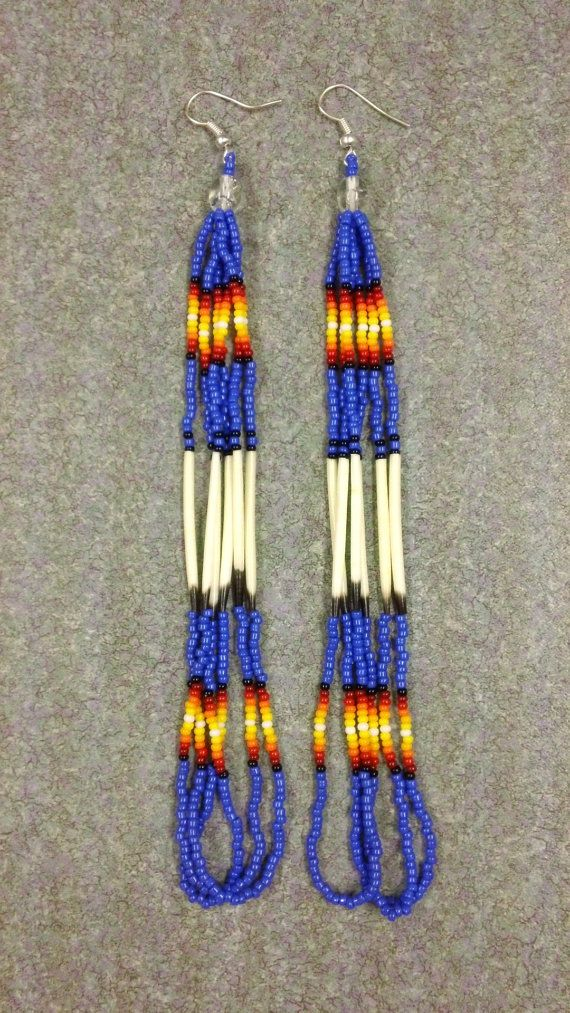 Native American 6 Long Cobalt Sunrise by prettyuniquedesigns2