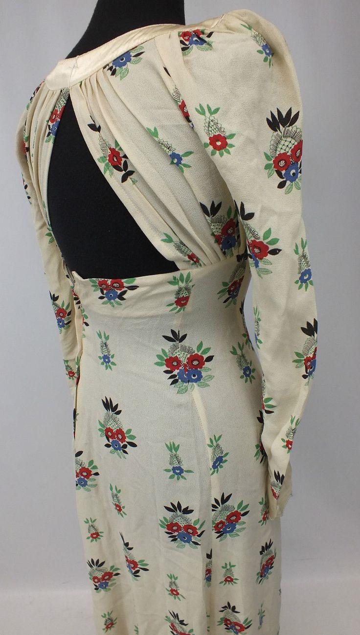Vintage OSSIE CLARK For RADLEY Floral Patterned Maxi Dress UK 8-10 - CL8 S24 | eBay