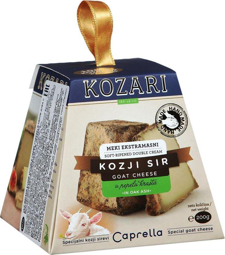 Сыр Kozari Double creme cheese козий в пепле дуба с благородной белой плесенью 60%