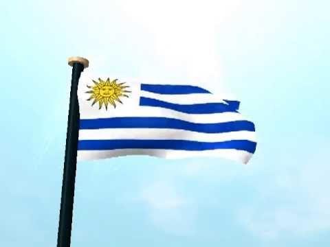 Uruguay Bandera 3D Fondos Animados - YouTube