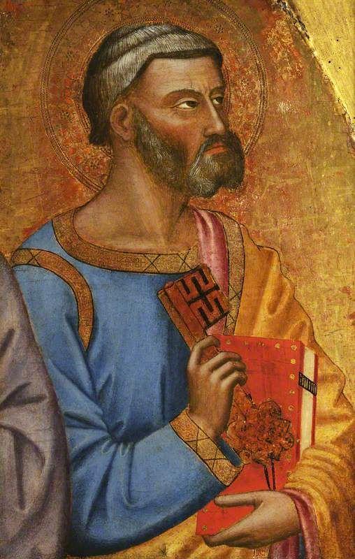 Jacopo di Cione - San Pietro a mezzo busto -   Christ Church, Università di Oxford