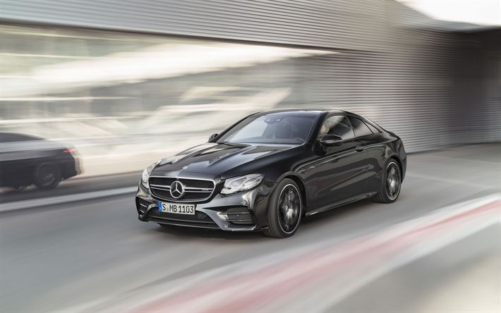 Download wallpapers Mercedes-AMG E53 Coupe, road, 2019 cars, motion blur, E53 Coupe, Mercedes