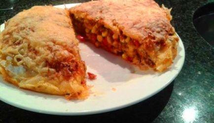 Mexicaanse Tortilla Taart Met Gehakt recept | Smulweb.nl
